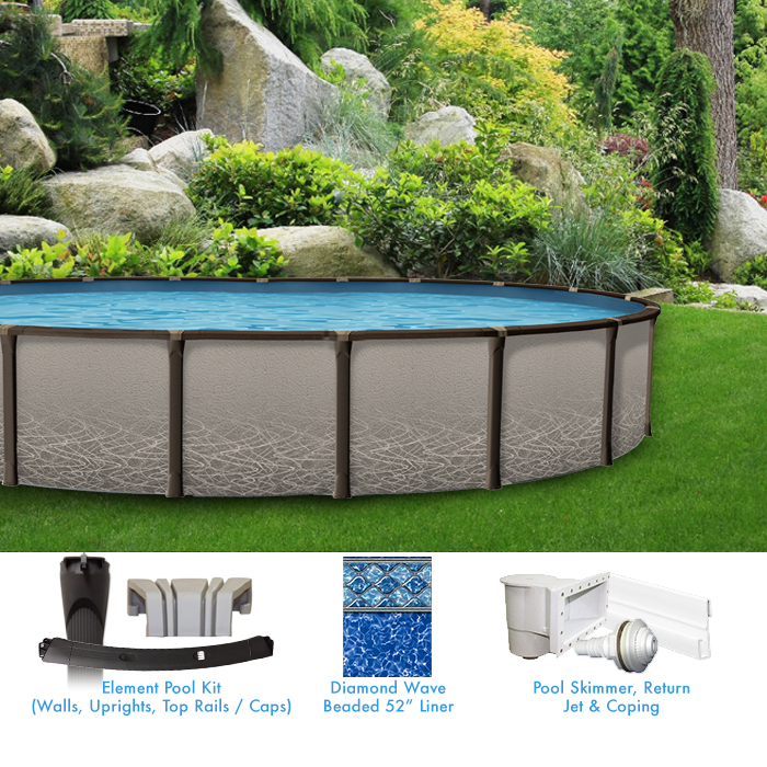 Element 18 x 33 Oval Above Ground Pool Custom Package ...