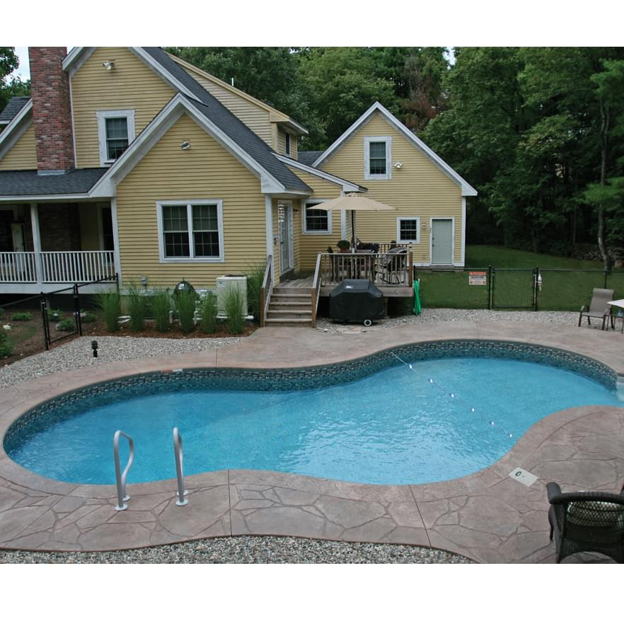 16 x 32 ft mountain lake inground pool complete package - Commercial swimming pool safety equipment ...