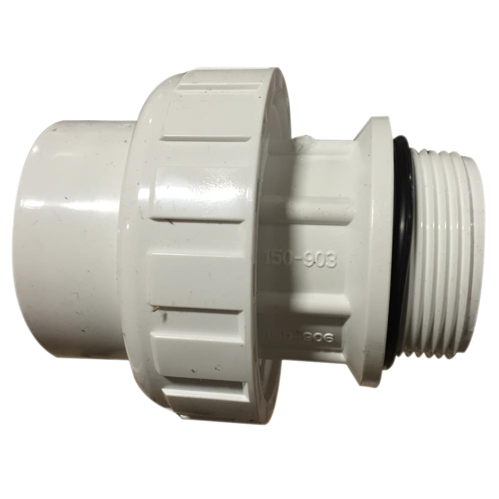 1 5 Inch Pvc Union Skt Mip With O Ring Pool Supplies