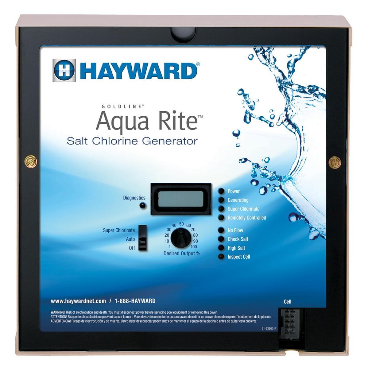 Hayward Aqua Rite Xl Salt Generator Amp 40k Gal Cell Plug