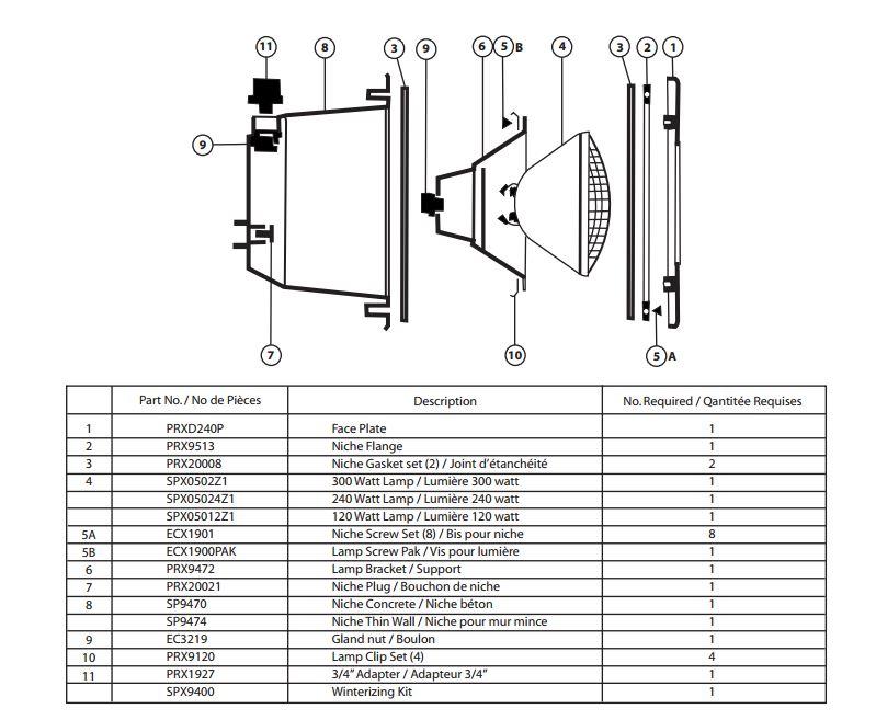 Hayward Spx05024z14 120 Par56 12v Lamp Pack Of 4