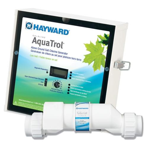 Hayward aquatrol low salt water system for above ground - Salt water pumps for swimming pools ...