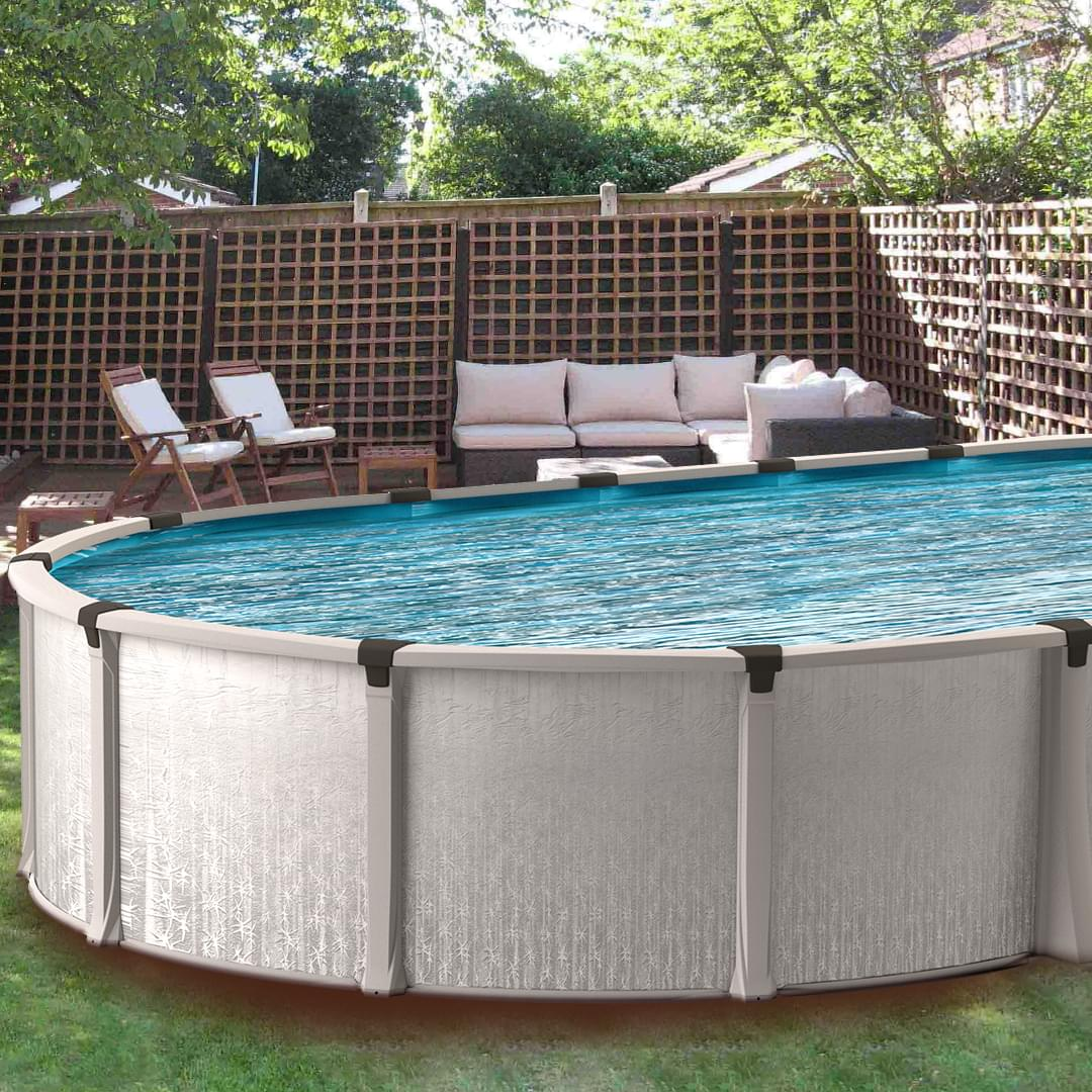 Eternia 19 x 33 ft oval buttress free above ground pool - Commercial above ground swimming pools ...