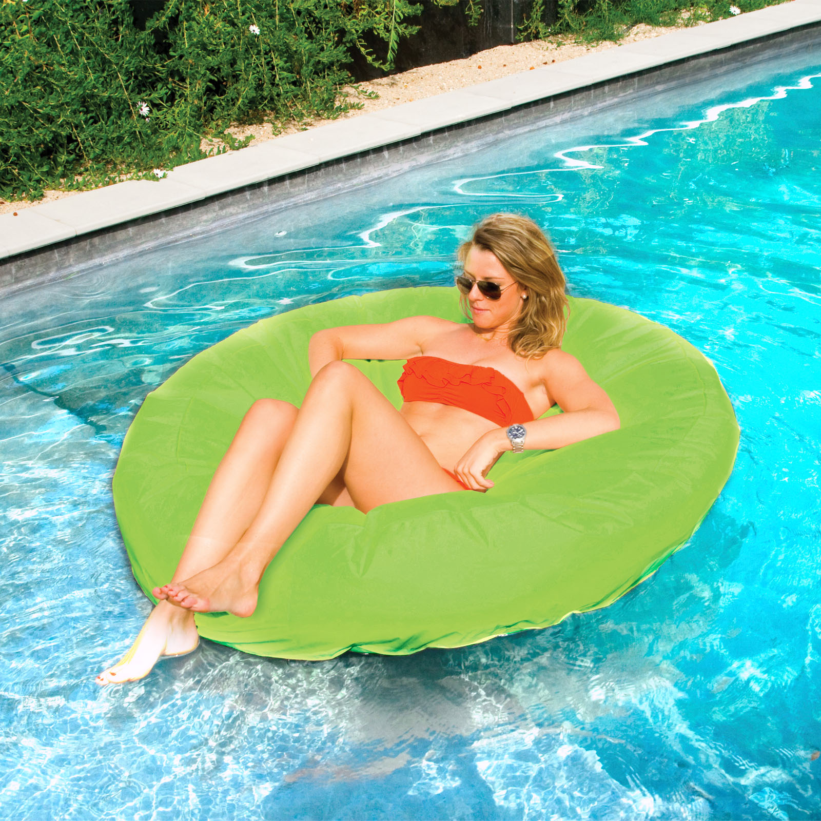 Solstice SunSoft Lime Fabric Island Pool Float Pool Supplies Canada