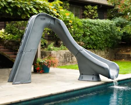 Typhoon Right Hand Turn Inground Pool Slide Pool