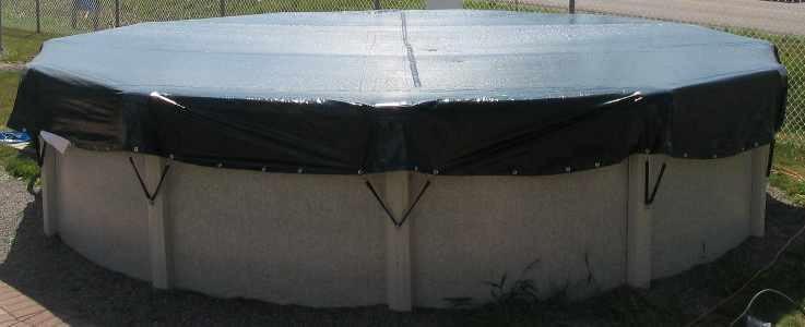 Couverture d 39 hiver eliminator de 15 x 24 pieds ovale for Piscine 24 pieds