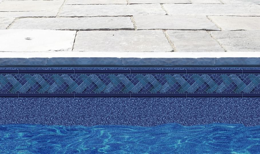 Rectangle inground liner pool supplies canada for Blue pond liner