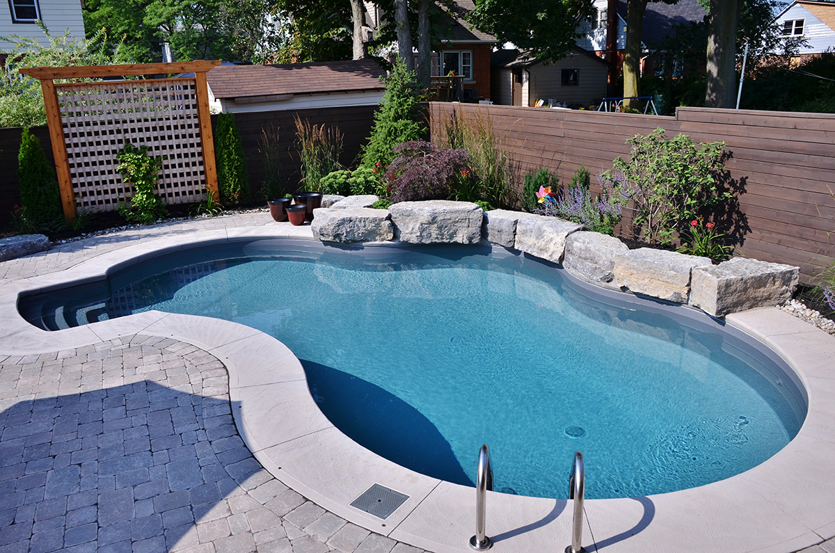 Inground pools pool supplies canada for Images of inground swimming pools
