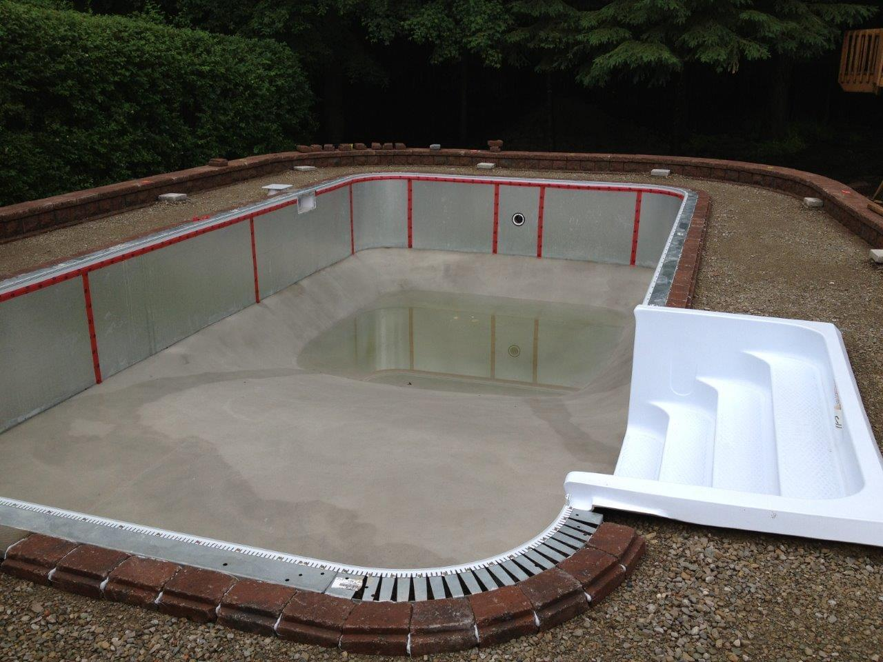 Inground pools pool supplies canada for Build your pool