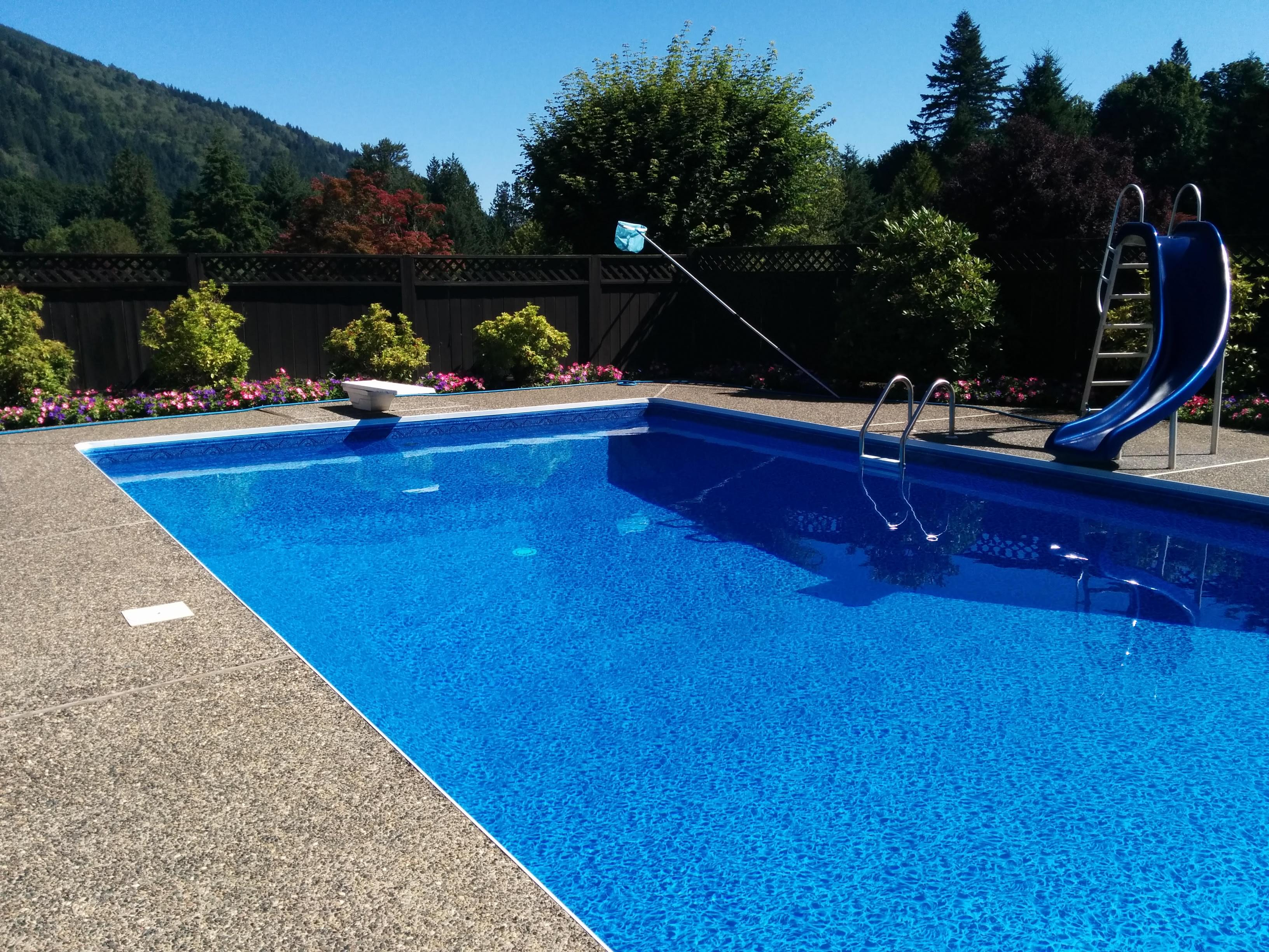 Inground pools pool supplies canada for Pictures of inground pools