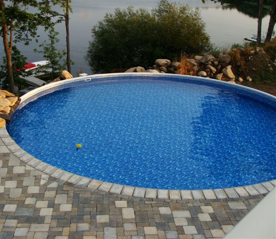 Pictures of semi inground pools joy studio design for Pool equipment design