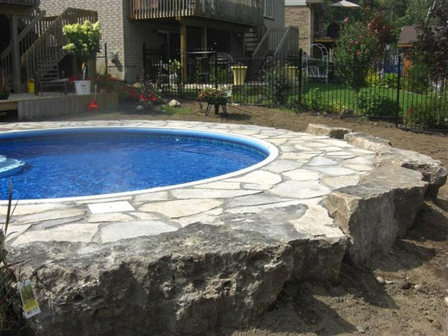 Semi inground pools canada joy studio design gallery for Inground swimming pool kits