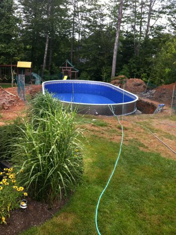 Semi inground swimming pools canada joy studio design for Swimming pool installation companies
