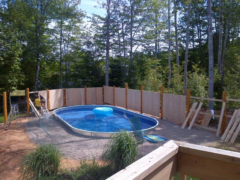 Semi inground pools pool supplies canada for Pool installation