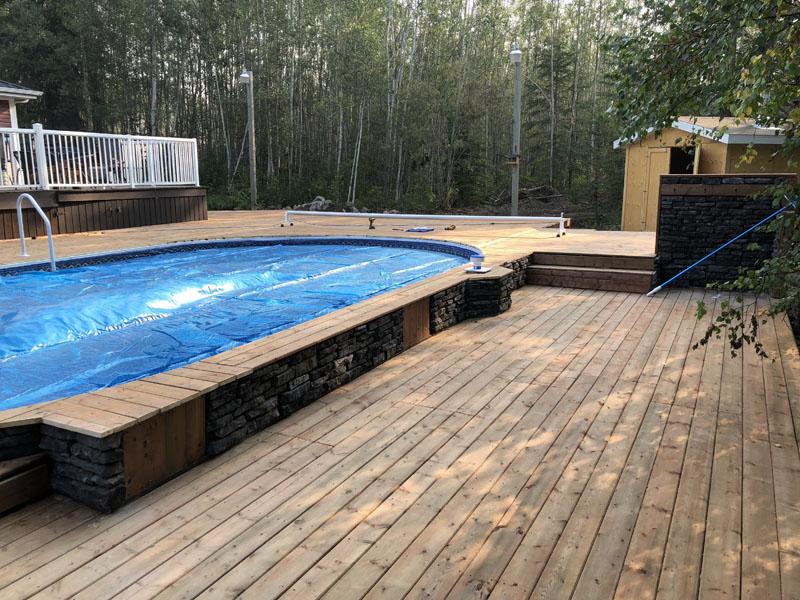 Semi Inground Pools Image Gallery Image