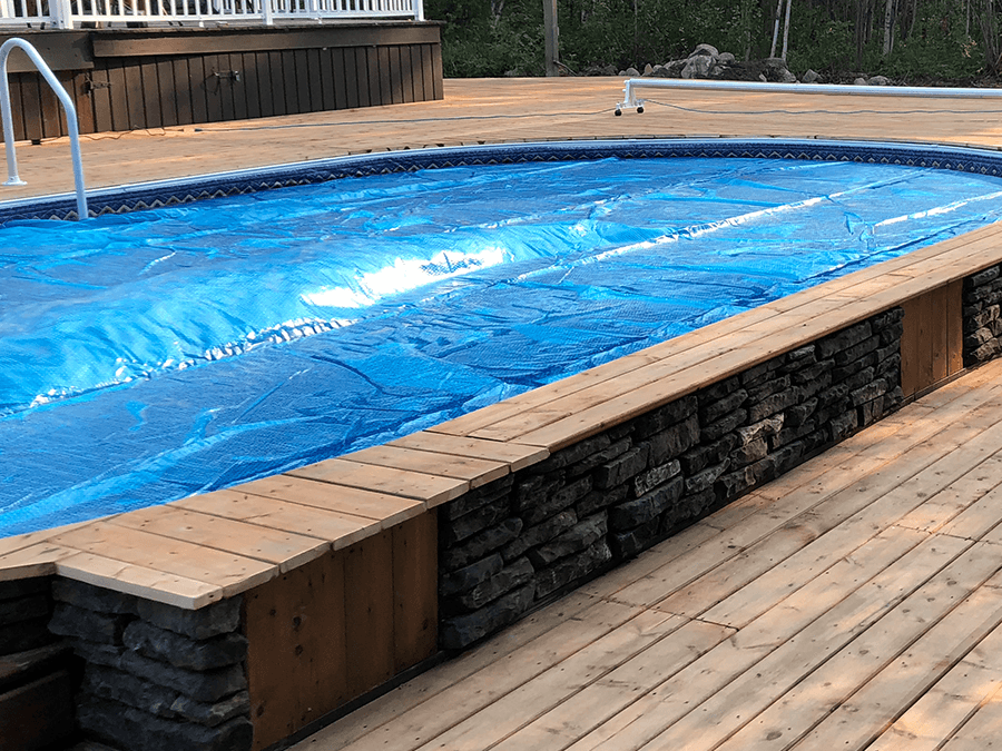 Oval Eternity Semi Inground Pool