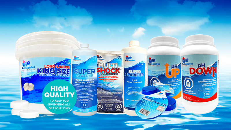 Get Sparkling Pool Water All Season Long with Pool Chemicals By Pool Supplies Canada