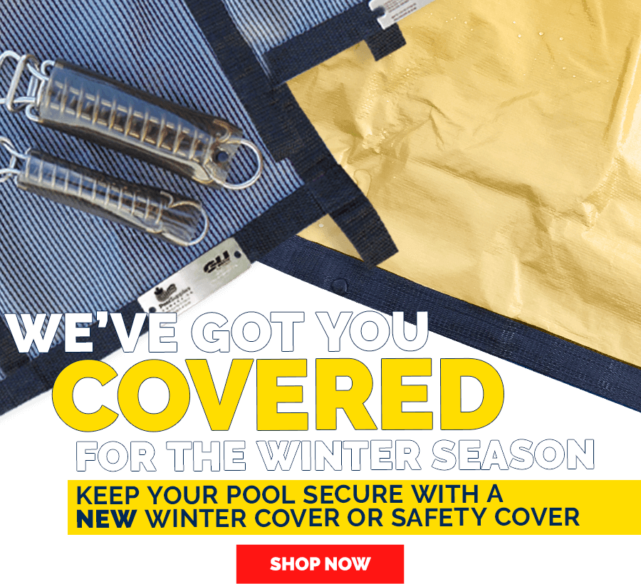 Winter Covers in Stock and on Sale Now at Pool Supplies Canada
