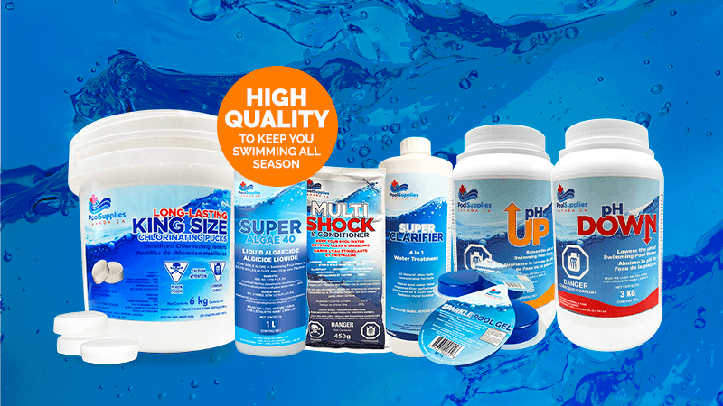 Keep Swimming All Season Long With Top Quality Chemicals from Pool Supplies Canada