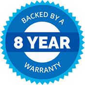 8 Year Manufacturers Warranty