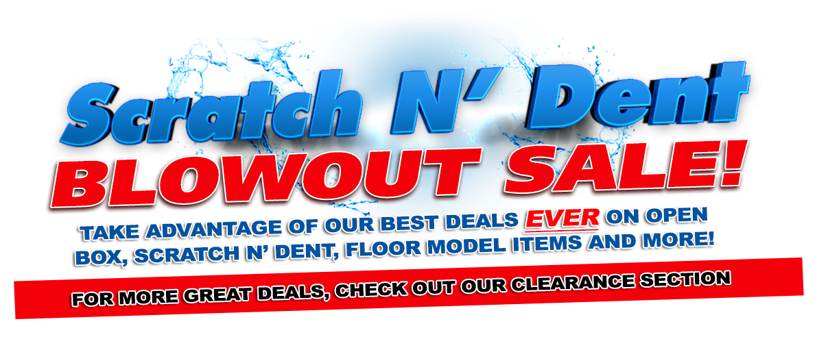 Scratch N Dent Sale On Now