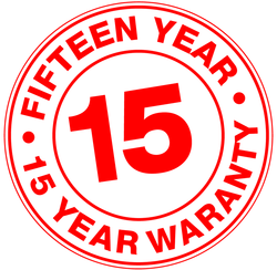 15 Year Warranty on Seams