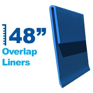 Above Ground Overlap Liners for 48 Inch Pool Wall Heights