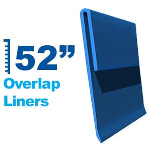 Above Ground Overlap Liners for 52 Inch Pool Wall Heights