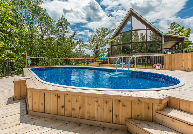 semi inground pool cost. Here Are Some Photos From Our Customers Who Have Installed Their Own Semi Inground Pools And Transformed Yards. Pool Cost O