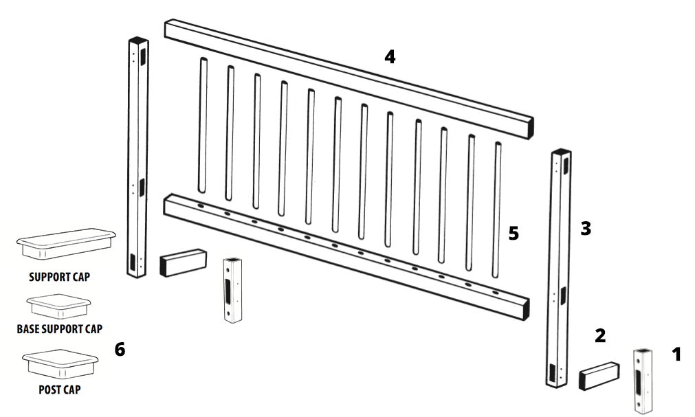 gli above ground pool fence parts