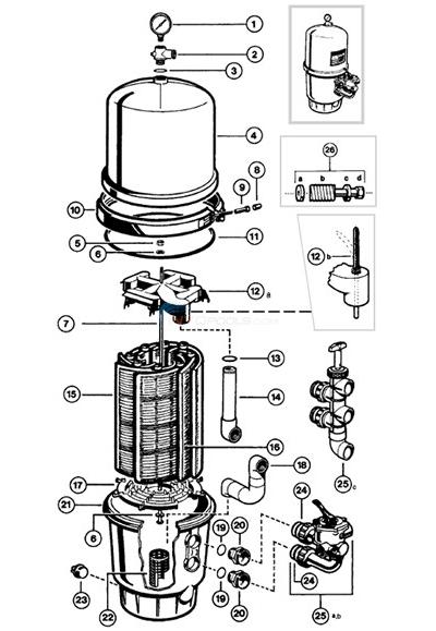 Hayward Micro Clear De Filter Parts Pool Supplies Canada