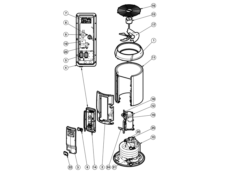 Hayward Heat Pump Parts | Pool Supplies Canada on