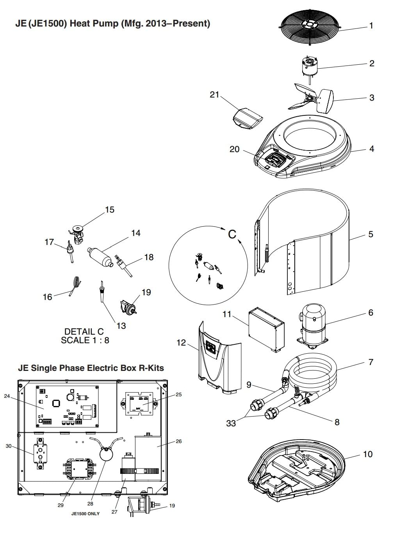 Jandy Je Heat Pump Parts Pool Supplies Canada