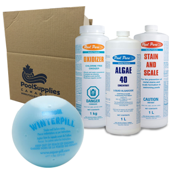 Winter supplies and covers pool supplies canada for Chemicals needed to close swimming pool