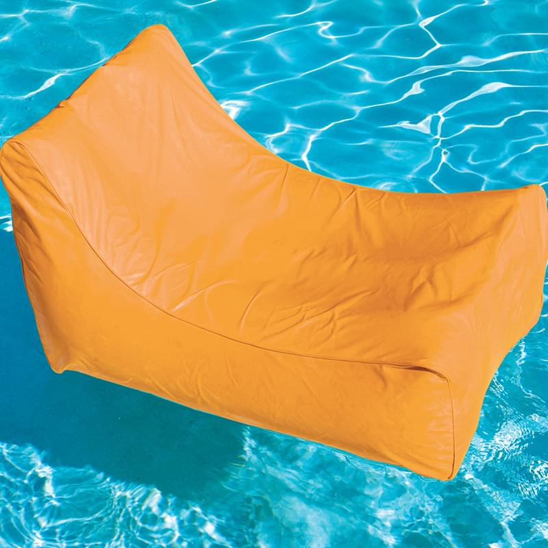 Solstice Sunsoft Orange Fabric Inflatable Lounge Chair