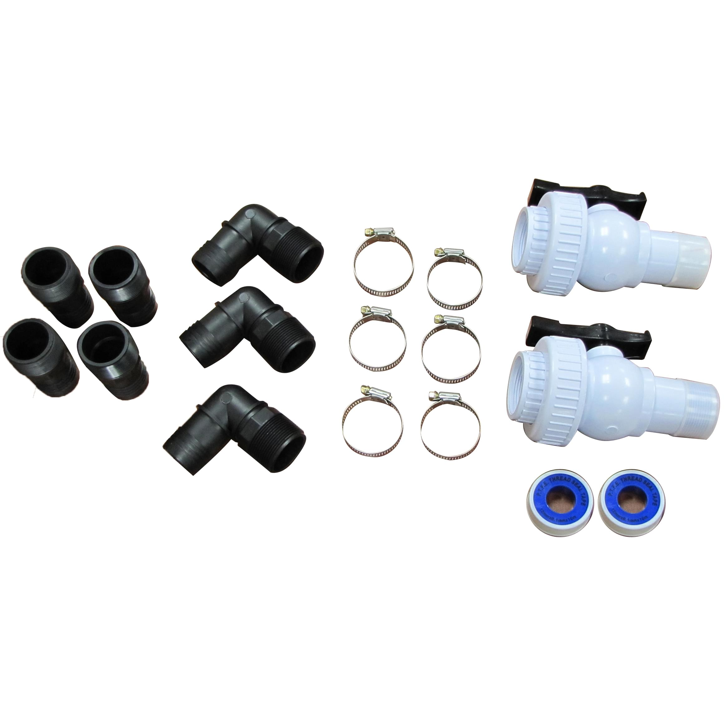 Standard above ground plumbing package for Pool accessories