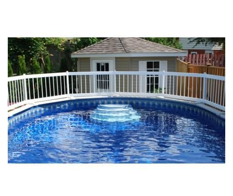Trousse c pour cl ture blanche pisci magasin de piscine for Cloture de piscine hors terre