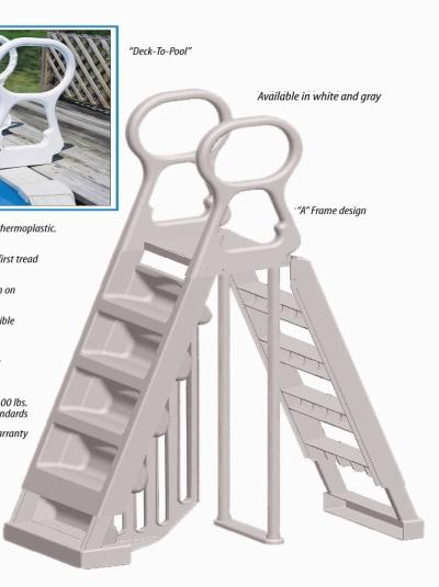 Discontinued a frame grey integrity above ground ladder complete