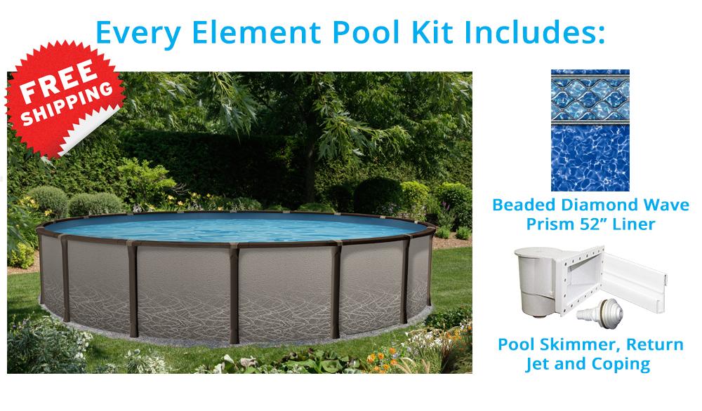Piscine hors terre l ment de 15 pieds ronde pool for Chauffe eau pour piscine hors terre