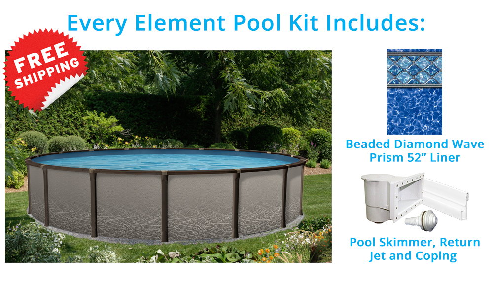 Element 27 round above ground pool pool supplies canada for Above ground pool equipment