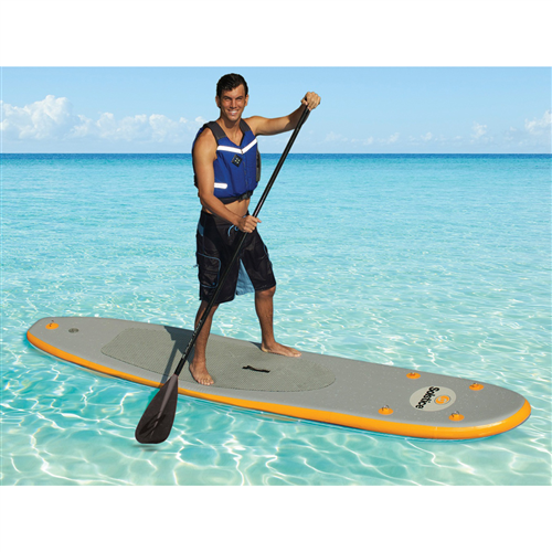 Solstice Bali Inflatable Stand-Up Paddle Board and 3 Piece Aluminum Paddle