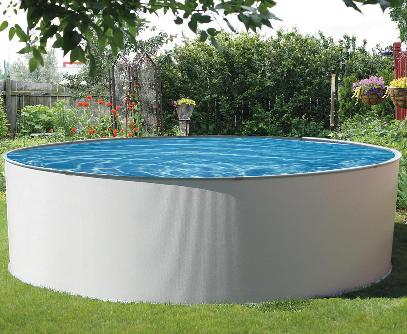 Simplicity 12 round above ground pool pool supplies canada for Round swimming pools above ground