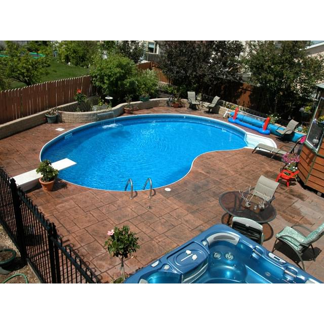 14 X 28 Ft Crescent Inground Pool Complete Package Pool