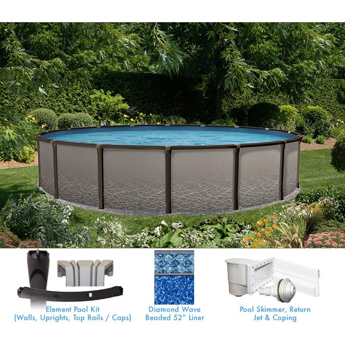 Piscine hors terre l ment de 15 pieds ronde forfait for Vente de piscine hors terre