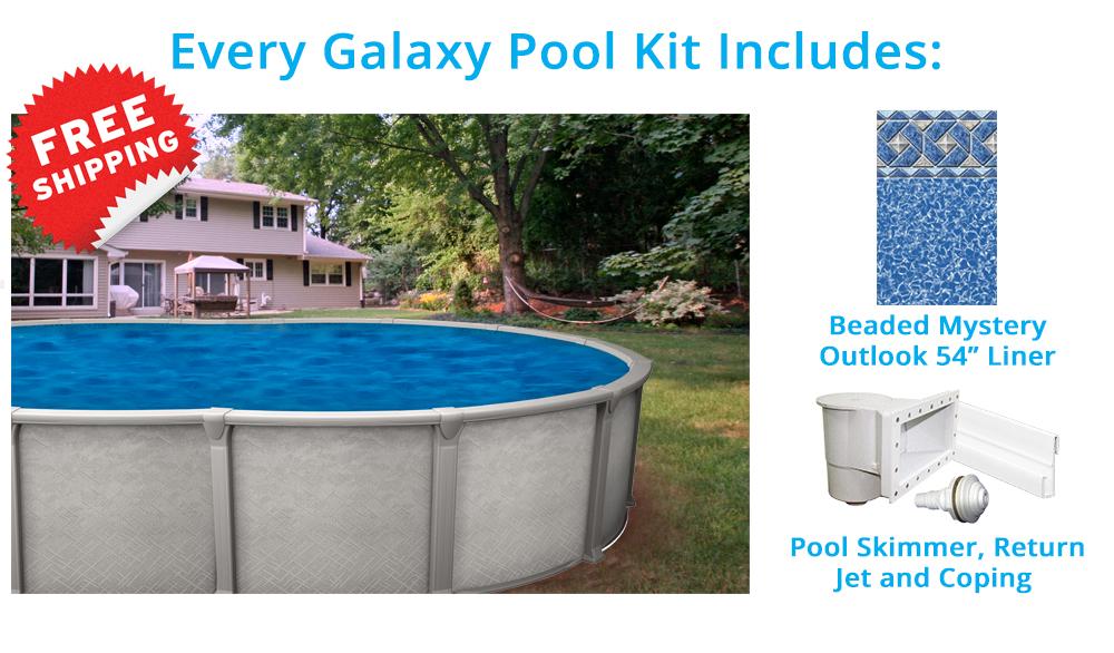 Galaxy 15 x 30 pied ovale piscine ho magasin de piscine for Chauffe eau solaire pour piscine hors terre