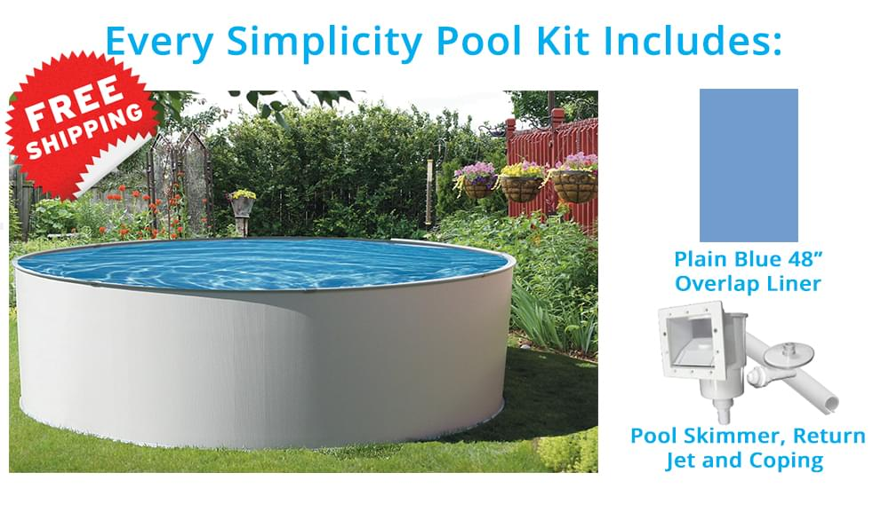 Simplicity 21 pied ronde piscine hors terre pool for Chauffe eau piscine hors terre prix