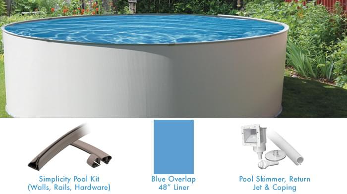 Simplicity 21 pied ronde piscine hors terre forfait for Piscine 21 pieds litres