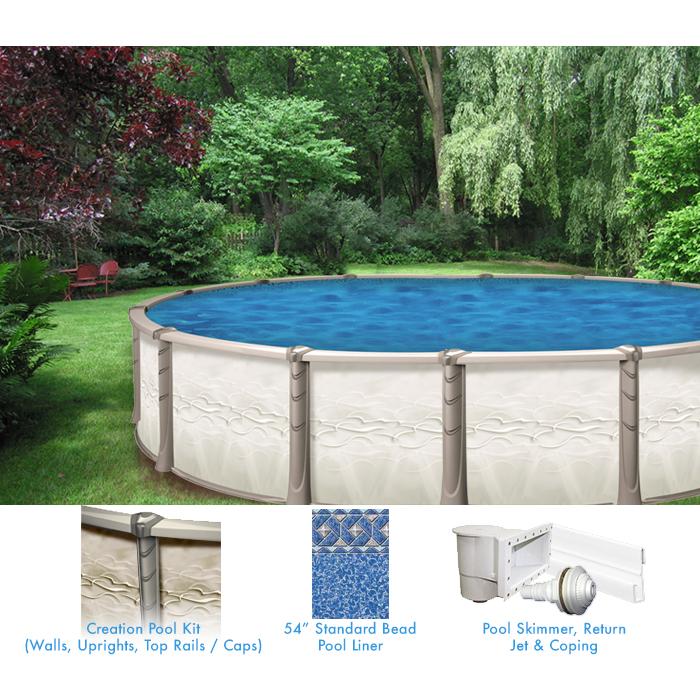 Piscine hors terre cr ation de 16 x 26 pieds ovale forfait for Creation de piscine