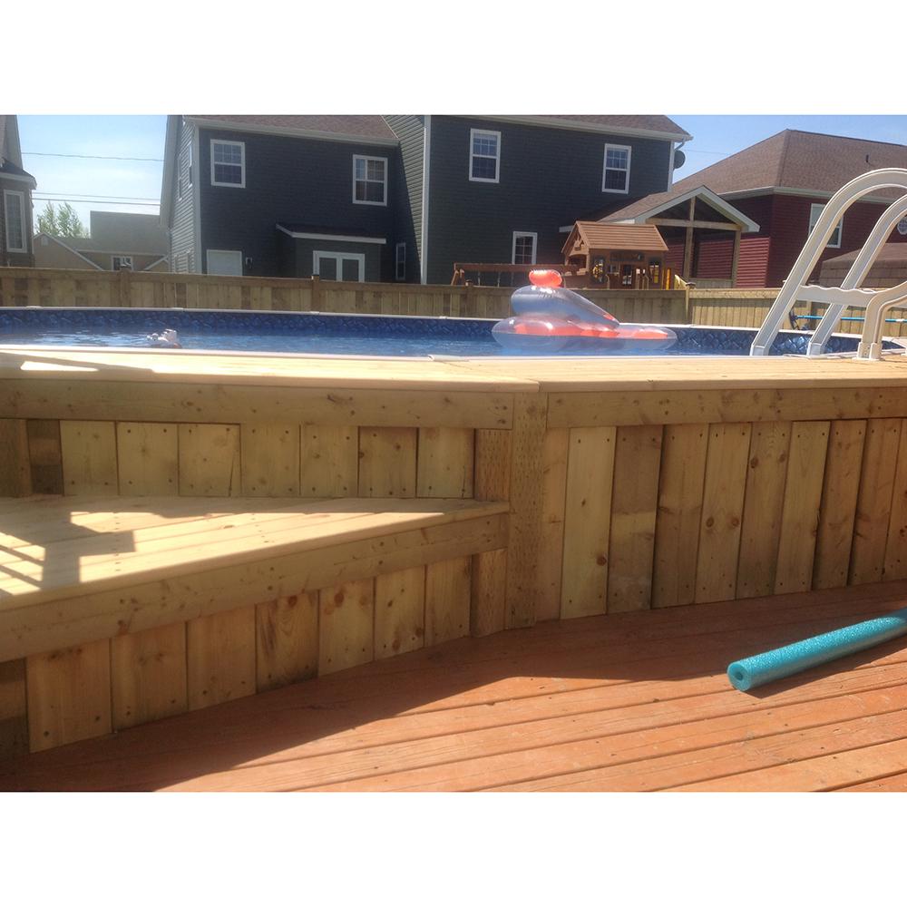 Evolution 18 pied ronde piscine hors forfait personnalis for Chauffe eau solaire pour piscine hors terre