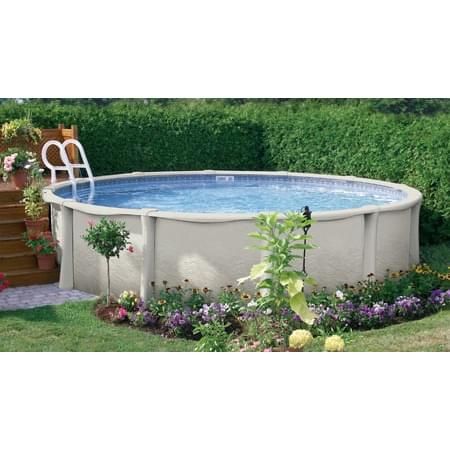 Vogue impact 12 ft round above ground pool pool supplies for Above ground pool equipment
